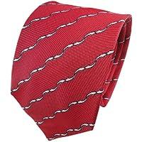 TigerTie Cravatta in seta - rosso bianco nero lavorato - Cravatta in seta