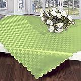 Mitteldecke 80x80 cm grün Schach-Muster / grün