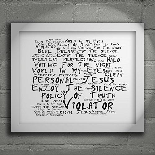 Preisvergleich Produktbild `Noir Paranoiac` Kunstdruck - DEPECHE MODE - Violator - Unterzeichnet und Nummerierten Limitierte Auflage Typografie Ungerahmt 25 x 20 cm (10 x 8 inch) Wand Kunst Druck Text Lyrisch Grafik Plakat - Song Lyrics Art Print Poster