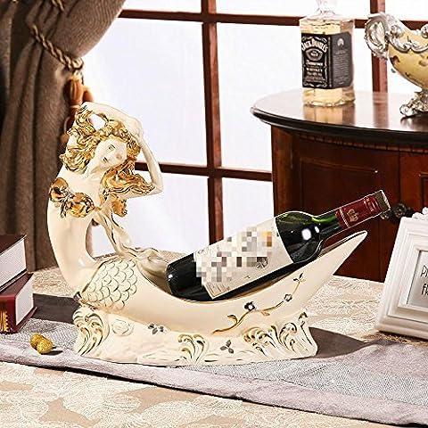 WENGKHF Wine racks refroidisseur à vin accessoires à l'intérieur des sirène ornements ornements en céramique
