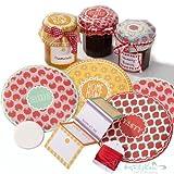 Jam Jar Label Kit - Cottage Garden - Make your homemade jams & chutneys look great