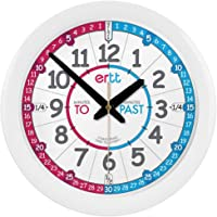 EasyRead Time Teacher ERC-RB-PT Learn The Time Past/To Children's Wall Clock