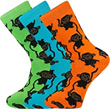 Mysocks® Ankle Socks Monkey Design Made From the Finest Combed Cotton