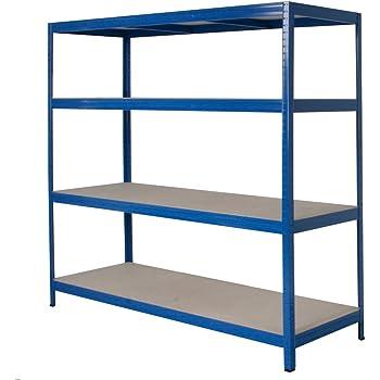 gro fachregal stecksystem 4 b den blau tragkraft 350 kg ebene hxbxt 1800 x 1800 x 600 mm. Black Bedroom Furniture Sets. Home Design Ideas