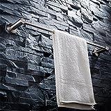 Toallero acero inoxidable 304 cepillado cuna de baño unipolar perforación libre alargado longitud total 60.5cm barra de toalla