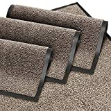 GadHome Doormat Door Mat for Front Door, Inside and Outside, Doormat, Door Mat for Entrance Areas, Cleaning Mat, Anthracite-Black