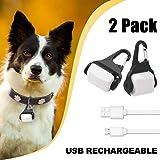 Derlights LED Dog Collar Light, USB Rechargeable Light Up Dog Collar Light, IP65 Waterproof Pet Collar Light, Safety Light for the Dark