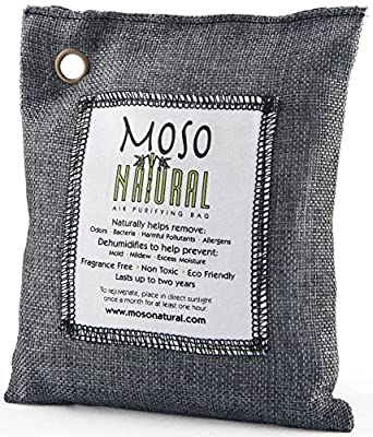 Moso Natural Air Purifying Bag Fragrance Free Charcoal