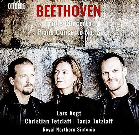 Ludwig van Beethoven: Triple Concerto; Piano Concerto No. 3 [Lars Vogt; Christian Tetzlaff; Tanja Tetzlaff; Royal Northern Sinfonia; Lars Vogt] [Ondine: ODE