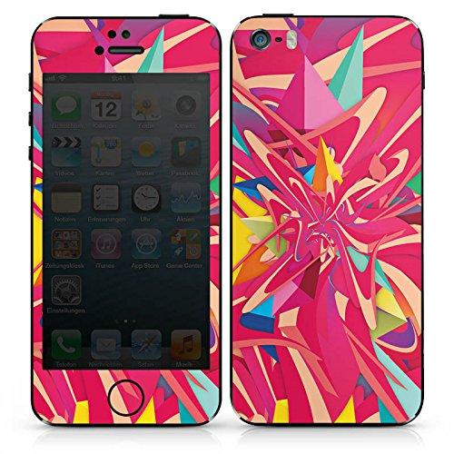 Apple iPhone SE Case Skin Sticker aus Vinyl-Folie Aufkleber Farben Explosion Muster DesignSkins® glänzend
