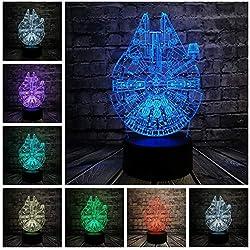 Lámpara Led 3D Dormitorio Chico Fresco Luz De La Noche Trek Decor Bulbing Niños Juguetes Gadget De Regalo Niño, Control Remoto