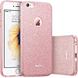 iPhone 6 Plus / 6s Plus Funda, ESR Resplandecer Carcasa el Bling Funda para iPhone 6S Plus / iPhone 6 Plus, Oro Rosa