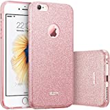 iPhone 6S Case,iPhone 6 Case,ESR® Ultra Thin iPhone 6 6s Glitter Bling Sparkle Protective Case Cover for 4.7 inches iPhone 6/6s (Rose Gold)