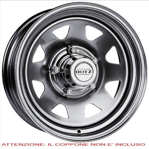 CERCHI-IN-FERROKFZ-ALCAR-4X4-DAKAR-7JX16-6JX1397-ET-33-100-COPPONE-ESCLUSO-Colore-Silver-Grigio