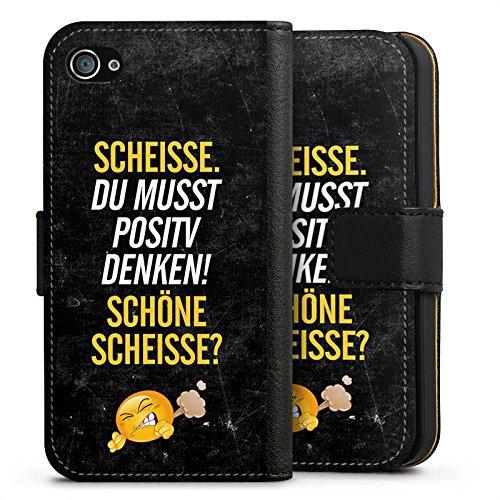 Apple iPhone X Silikon Hülle Case Schutzhülle Lustig Sprüche Humor Sideflip Tasche schwarz