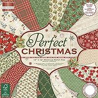 "Primera edición de Navidad, multicolor, First Edition Christmas - Perfect Christmas Premium Paper Pad 12""x12"" 48 Sheets (FSC)"