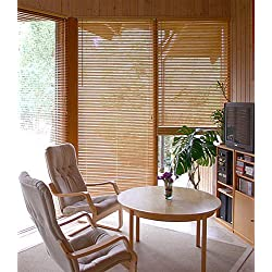 Bambusjalousie - Farbe: natur - Höhe 175cm - Breite im Angebot wählbar - hier in: 45x175cm - Lamelle 25 mm