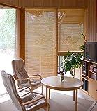 Bambusjalousie - Farbe: natur - Höhe 130cm - Breite im Angebot wählbar - hier in: 50x130cm - Lamelle 25 mm