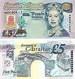 Gibraltar - 2000 £5 Sammlerbanknoten (Unzirkuliert)