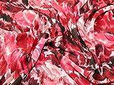 John Kaldor Abstrakt Print Chiffon Kleid Stoff pink &