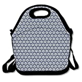 IGENERAL Girls Circles With Dots Tribal Ornate Pattern Ethnic Vintage Design Traditional Asian Cute Gym Drawstring Bags Travel Backpack Tote School Rucksack