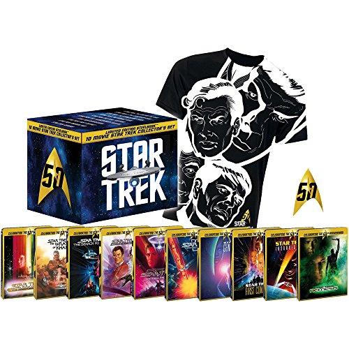 Star Trek I-X - Die Kinofilme 1-10 - limitierte Steelbook Collector\'s Box inkl. Anstecknadel + T-Shirt (Blu-ray)