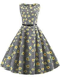 Vestido vintage de los años 50 para mujer, estilo Saihui Audrey Hepburn, informal,