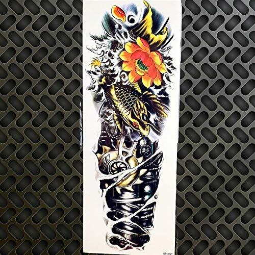 HXMAN 3pcs Wasserdichte Große Tod Schädel Roboter Arm Old School Temporäre Tattoo Aufkleber Gqb-024 Männer Frauen Körper Kunst Schulter Armband Tattoo - Roboter Des Todes Kostüm