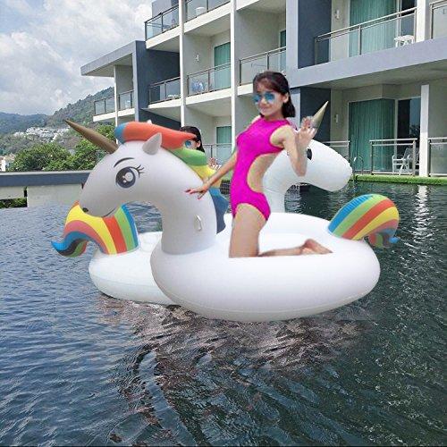 Flotador Unicornio, Los Adultos y los Niños Pueden Jugar en la Playa y Adecuado Para la Familia Usted Con Pileta