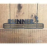 Tollington Stores Medal Hanger Display 'Female Runner' Stainless Steel 2.0 - BLACK