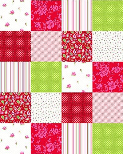 Rote Paisley Patchwork (ColourwallXL Patchwork Rot und Grün - 155702 - von ESTAhome.nl)