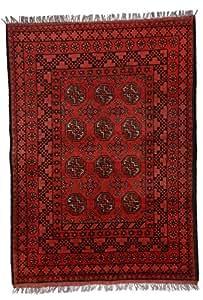 Parwis Afghbouch Tapis Laine Rouge 120 x 80 x 1,5 cm