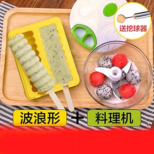 QPSSP Silikon - Form Mit Ungiftigen Haushalte Auf Eis Am Stiel - Box Aus Hausgemachten Eis Am Stiel Eis Am Stiel,B (Eis Am Stiel Cake Pan)