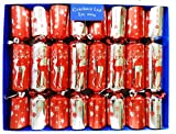 Set of 8 Family Fun Magic Tricks Christmas Crackers - Red and Silver Reindeer Design by Crackers Ltd (Cat F1)