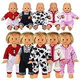 Miunana 5 Articoli = 5 PCS Abiti Vestiti Tuta Alla Moda Per 36 CM - 42 CM (14 Pollici - 16 Pollici) Baby Dolls Bambola Bebé E Altre Bambole, Bambolotti Amore Mio
