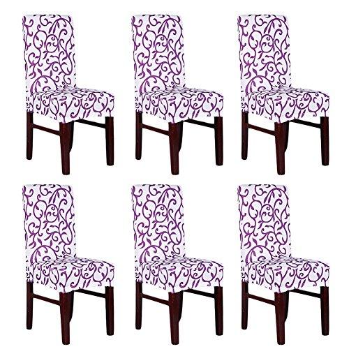 Pack von 6Elastische Kissenbezüge für Stuhl-Rückenlehne, Waschbar, Abnehmbar, Sitzbezug-Set für Hotel, Restaurant, Esszimmer, von Fiesta A