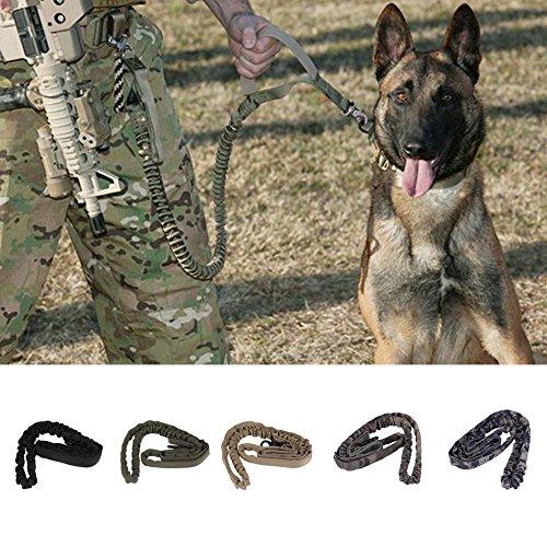 Generic Black : Waterproof Quick Release Tactical collars Duty Adjustable Dog Leash Military Dog Tactical Leads belt US Army Tactical Dog Leash