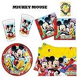 Mickey Mouse Clubhouse Party-Set 53tlg. Becher Teller Servietten Tischdecke für 16 Kinder
