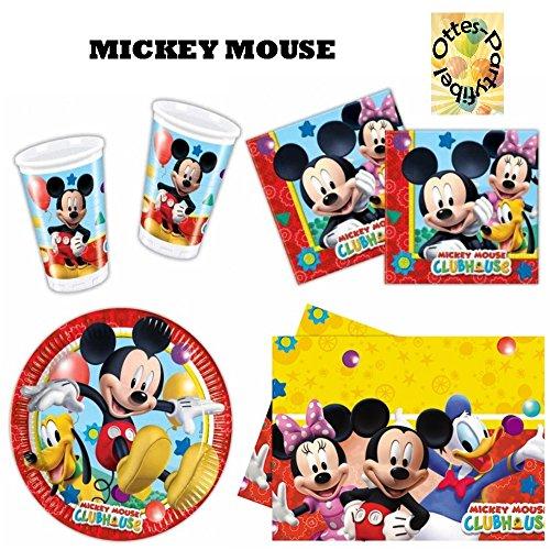 HHO Mickey Mouse Clubhouse Party-Set 53tlg. Becher Teller Servietten Tischdecke für 16 Kinder