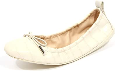 Tod's G0792 Ballerina Donna Flat Laccetto Leather Ivory Shoe Woman