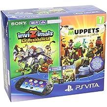 PlayStation Vita - Consola + Invizimals: La Resistencia + Muppets: The Movie + Tarjeta De Memoria 8 GB