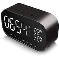 Digitaler Wecker Bluetooth Lautsprecher, Jim'S Store FM Radiowecker Dual-Alarm mit USB-Ladeanschluss, Bluetooth 4.2 Lautsprecher, 5.5'' Große LED-Anzeige mit Dimmer