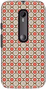 The Racoon Lean printed designer hard back mobile phone case cover for Motorola Moto G 3rd Gen. (Pink Flora)