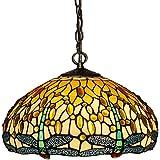 Arte Dal mondo Dragonfly techo lámpara de araña de cristal tiffany-style artesanía CD16511