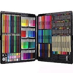 Idea Regalo - 258 Piece Creativity Art Set for Kids Disegno e pittura (acquerello, pastelli, pennarelli colorati, matite colorate)