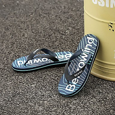 Slippers & amp da uomo; Luce, Primavera, Estate Suole PU casual Tallone piano Gray Green blu royal blu sandali US9.5 / EU42 / UK8.5 / CN43
