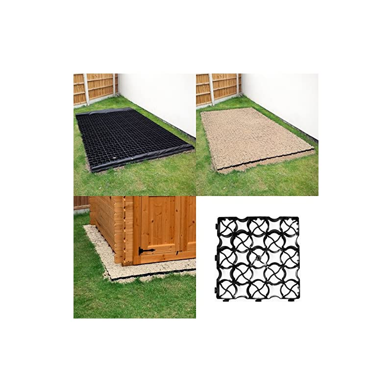 shed base 1 Eco paver for shed base or pathways each Paver size 333mm x 333mm x 40mm