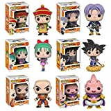 Dragon Ball Z Gohan, Trunks, Bulma, Goku and Nimbus, Krillin, Majin Buu Pop! Vinyl Figures Set of 6 by Dragon Ball Z