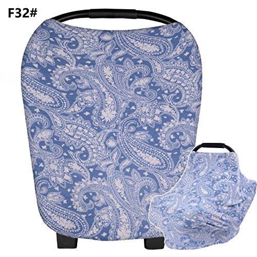 Sichere Multi-Use-Infant Baby Auto Sitzbezug dehnbar Canopy Cart Cover, leichte weiche Baumwolle Pflege Cover, Kinderwagen Cover, atmungsaktiv, hochelastisch, Boys & Girls, Segelboot, NEU, F32