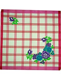 Handkerchief For Womens Napkin Checks (Pack Of 12) - 30X30 Cm - By XYZ Textiles